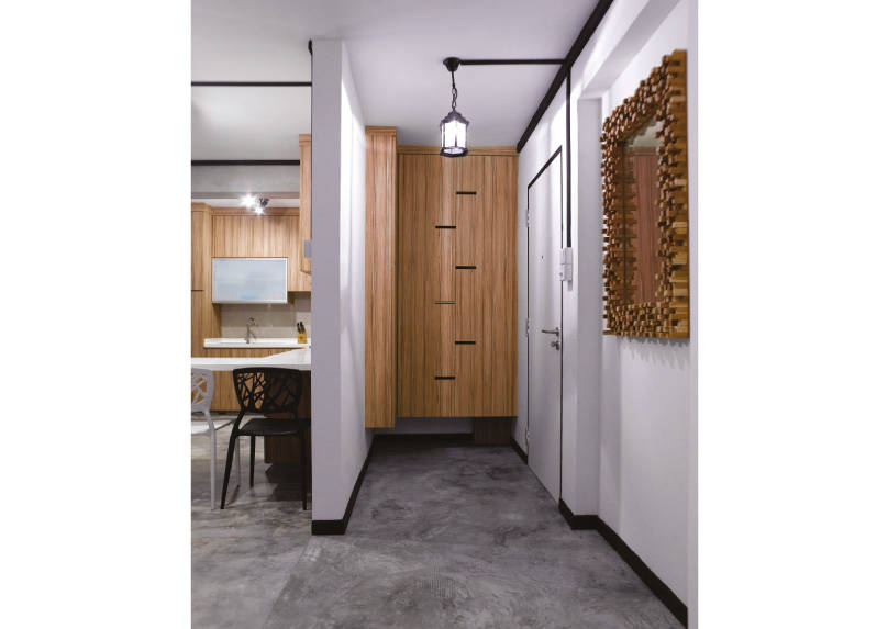 Foyer Design Hdb : A pared down industrial interior for two lookboxliving