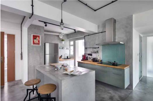 Industrial-Cement_Kitchen_Artistroom