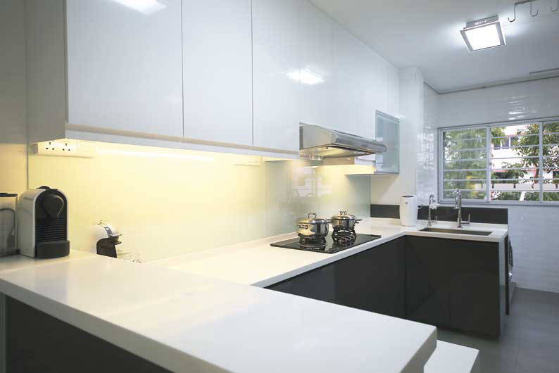 ... Hdb Flat · Marvellous 3 Room Flat Kitchen Design Singapore Pictures  Best ...
