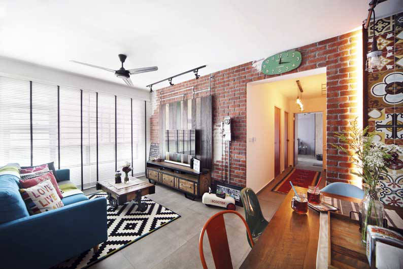 "An HDB flat with an ""Industrial Kampong"" Vibe 
