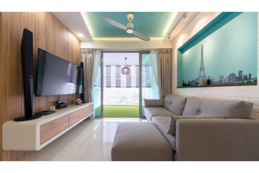 Colourful Scandi-style DBSS flat by D' Initial Concept