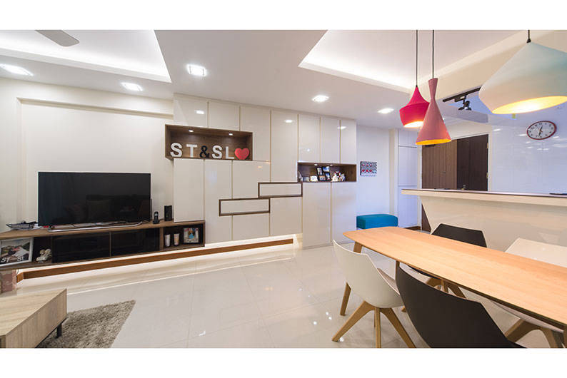 4 room hdb in pretty pastels by d 39 initial concept for Floor decor reno