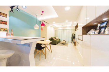 4-room HDB in pretty pastels by D' Initial Concept