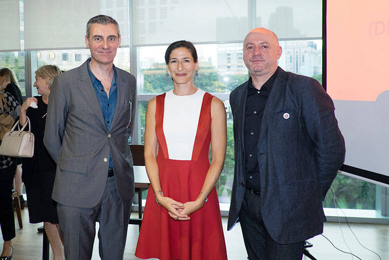 Presenter-of-the-Event---Alexandra-McKenzie,-Deputy-High-Commissioner,-British-High-Commission-(Centre)-with-Jim-Prior,CEO,-The-Partners-(Left)-and-Greg-Quinton,-Co-Author-and-Executive-Creative-Director,-The-Partners-(Right)