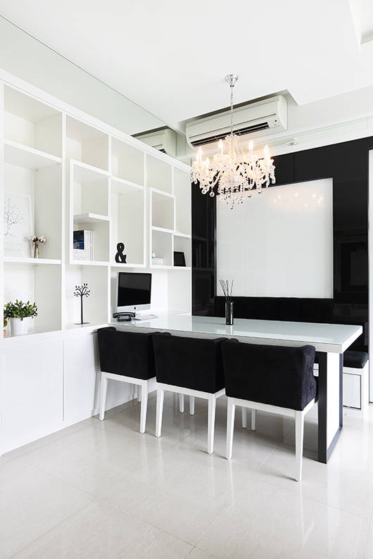3 Room Hdb Decor: See How Black And White Makes This 3-room HDB Look Much