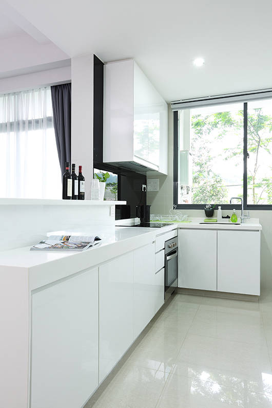 white kitchen cabinets hdb see how black and white makes this 3 room hdb look much 28801