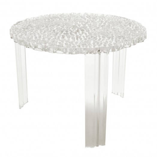 kartell t-table - transparent 1