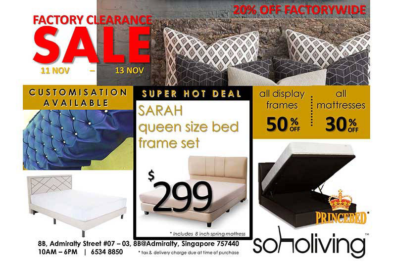 Beds and mattresses at 50% off at the Soho Living clearance sale ...