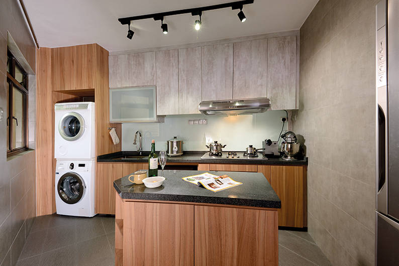 Design Idea  9  An odd shaped island14 Kitchen island designs that fit Singapore homes   Lookbox Living. Hdb 4 Room Kitchen Design. Home Design Ideas