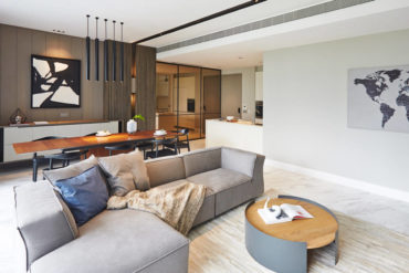 This stylish apartment exemplifies that you can't go wrong with sleek lines and crisp aesthetics