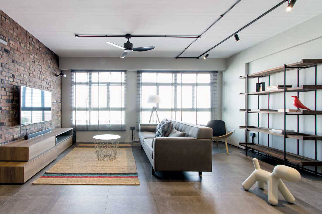 Industrial chic brings a HDB flat to life | Lookboxliving