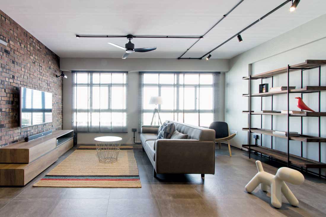 Industrial Chic Brings A Hdb Flat To Life Lookbox Living