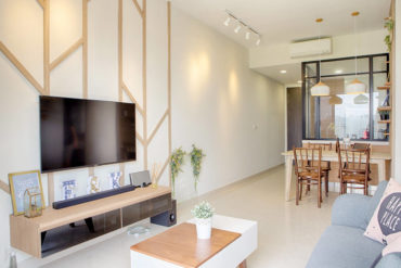 This couple's first home is young, fun and practical