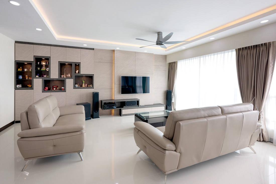 Bukit Batok 5-room HDB BTO flat AC Vision Design living room
