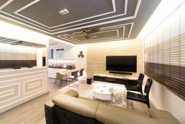 A HDB flat with elegant flourishes