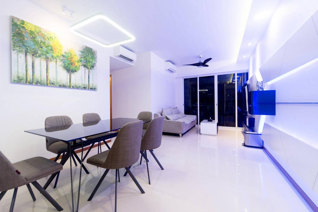 Dual key executive apartment idid contemporary interior design