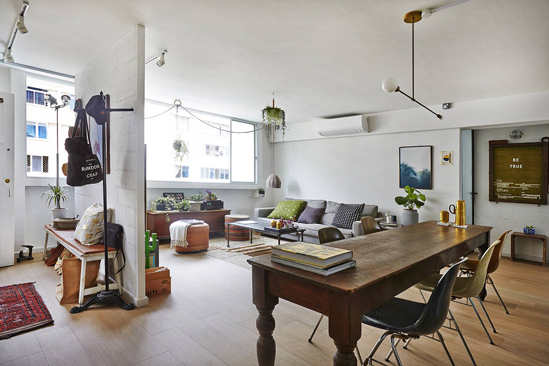 Vintage-chic charm in this 5-room HDB flat in Ubi