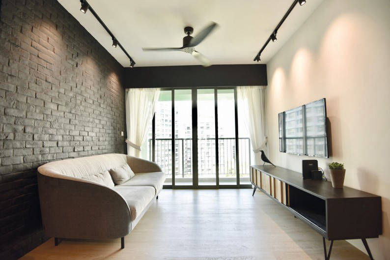 Monochromatic Simplicity In This Punggol Hdb Flat Home