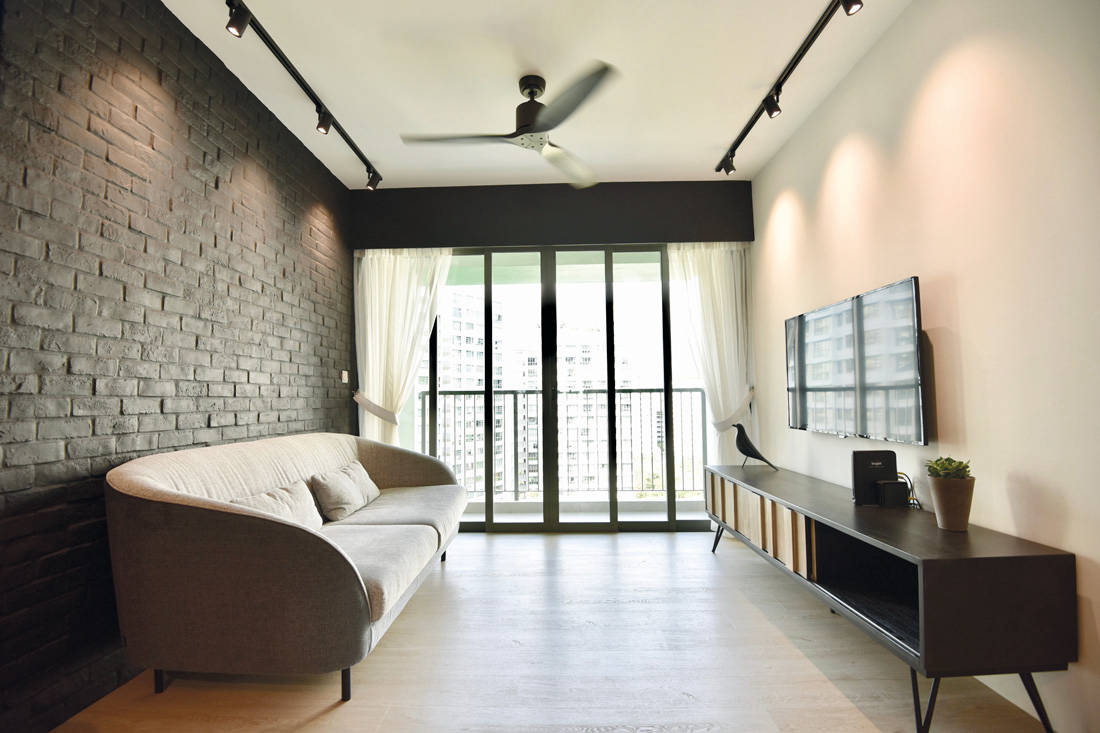 Monochromatic simplicity in this Punggol HDB flat home | Lookboxliving