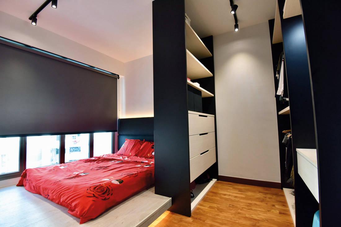 hdb flat home monochromatic modern van hus interior design