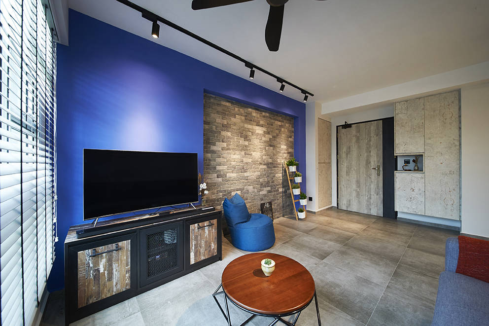 Bold Colour And Textured Materials Transform This 4 Room HDB BTO Flat    Lookboxliving