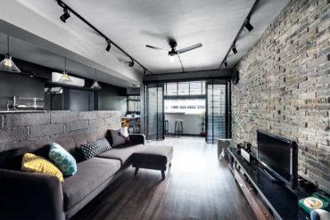 HDB flat in shades of grey