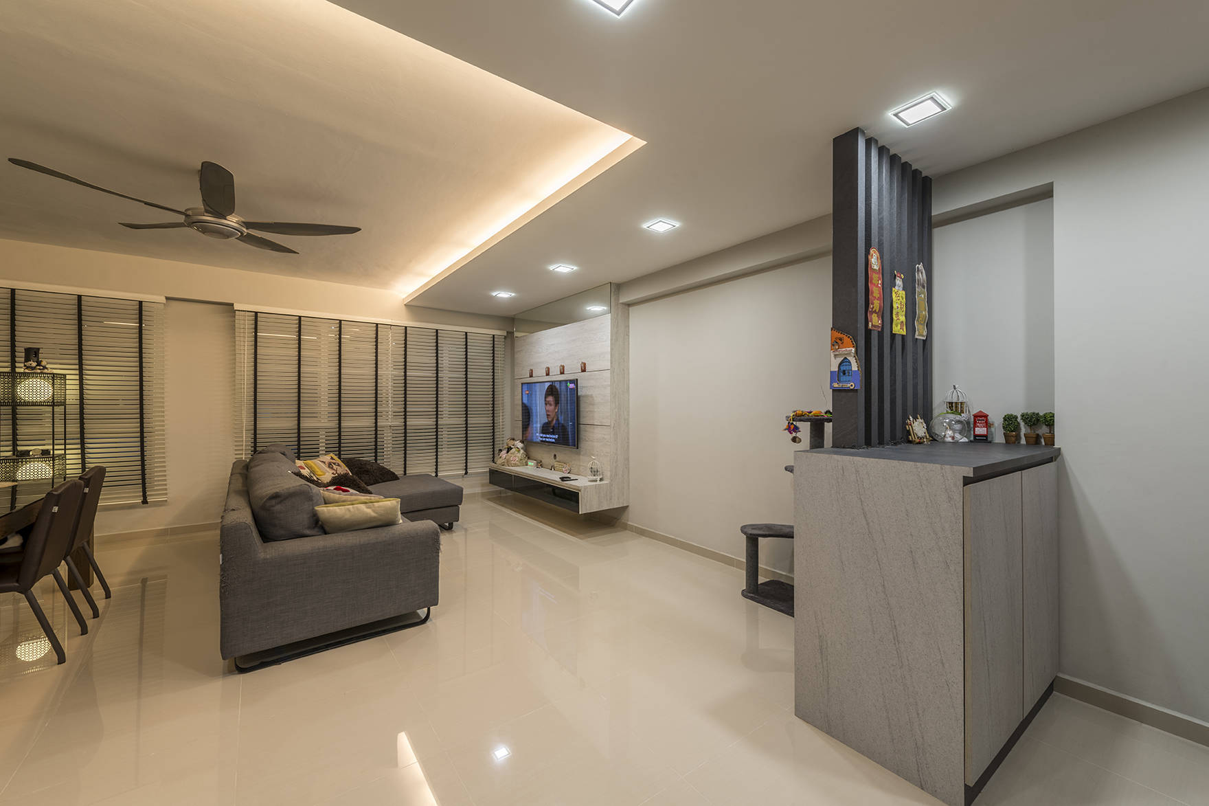 A Clean And Contemporary Look For This 5 Room Hdb Flat