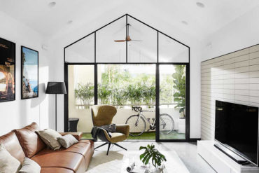 Apartment with a pitched roof