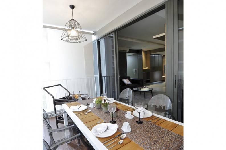 altered interior showcase dining