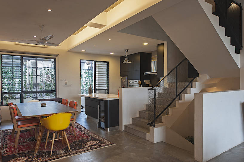 A Loft Style House With High Ceilings And Open Es
