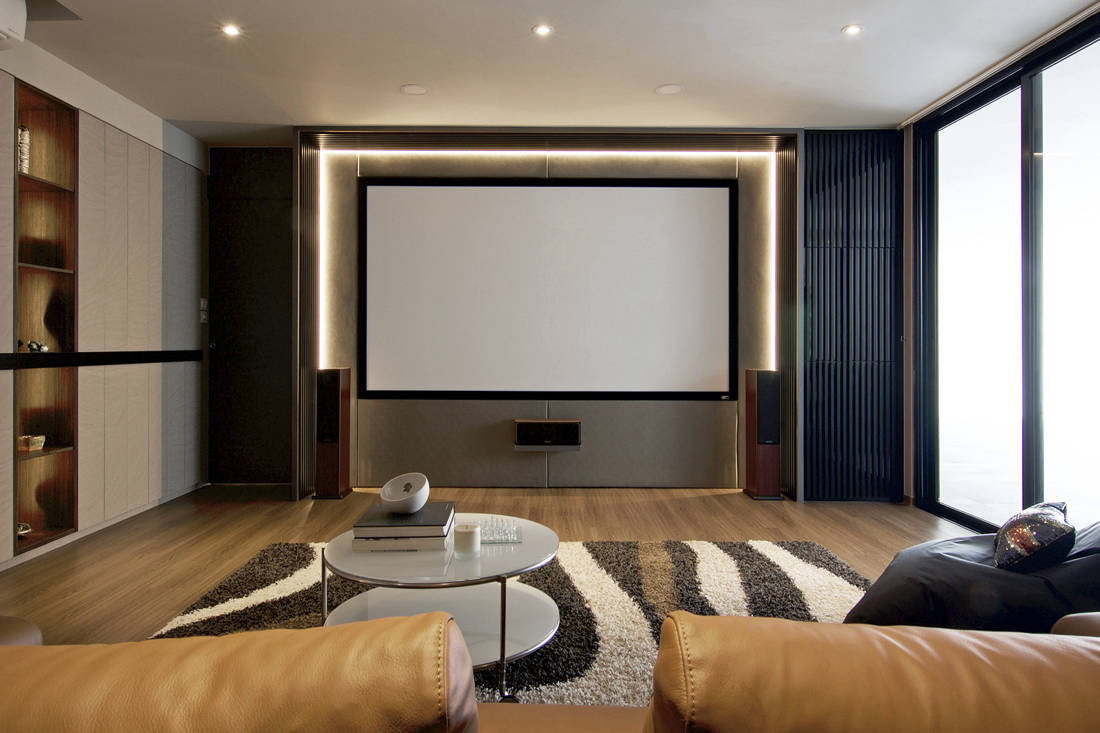 It features a design that plays up the idea of a grand arrival in the living area befitting of the homeowners entertaining style and their love for