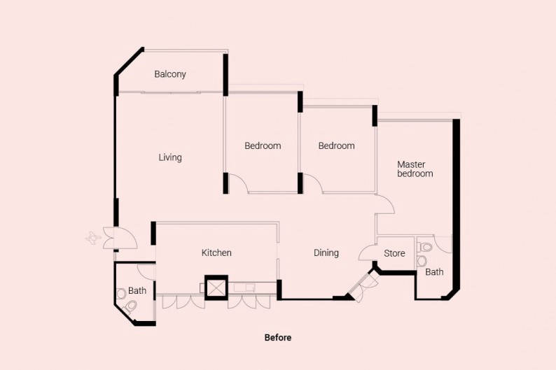 LBDA Home of the Year Upstairs The Crate Apartment floor plan
