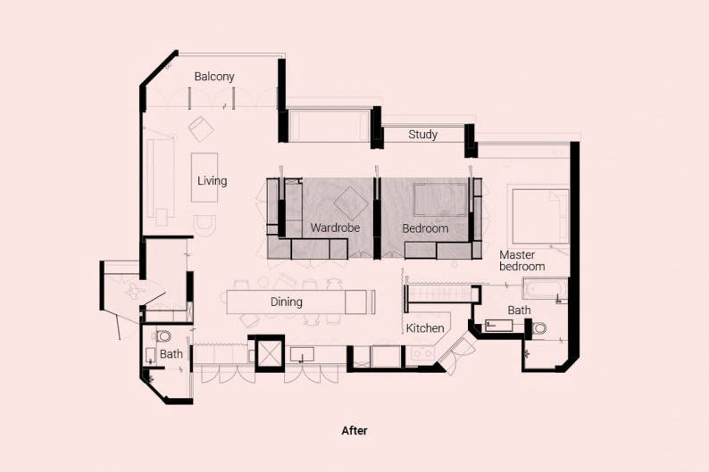 LBDA Home of the Year Upstairs The Crate Apartment floor plan2