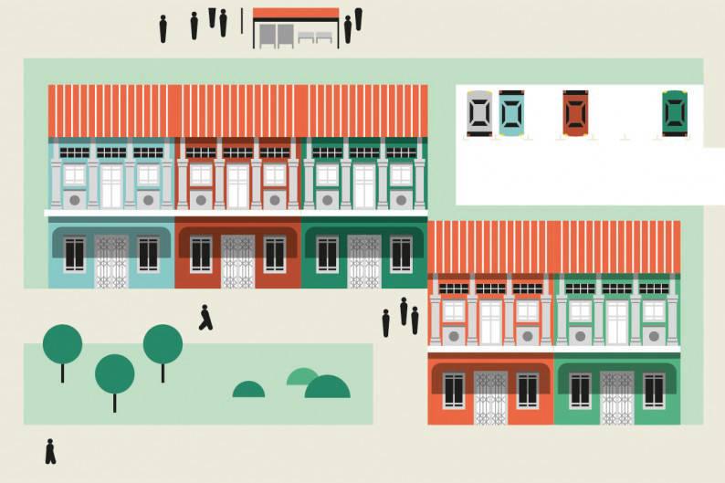 Shophouse illustration