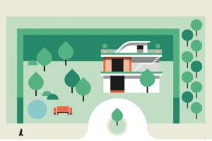 Detached house illustration