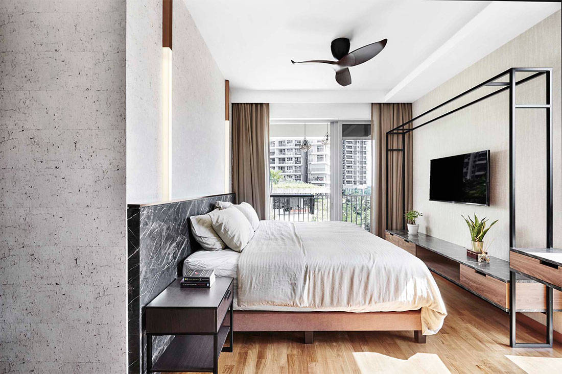 A Stylish Apartment In Marble Wood And Concrete Lookboxliving