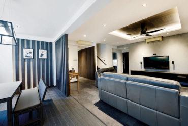 A space-smart modern penthouse