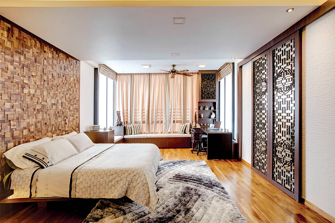 Modern Oriental Retreat With Rich Wood Accents Lookboxliving