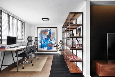 A chic black-and-white resale flat