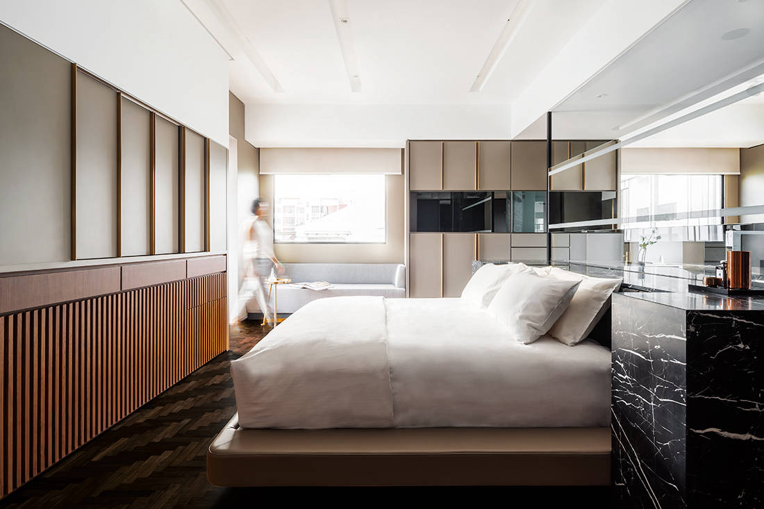 hotel style bedroom furniture. In This Attic Suite, Most Of The Furniture Is Custom-designed And Neatly Integrated Into Space. Reduces Unnecessary Visual Clutter Allows Hotel Style Bedroom