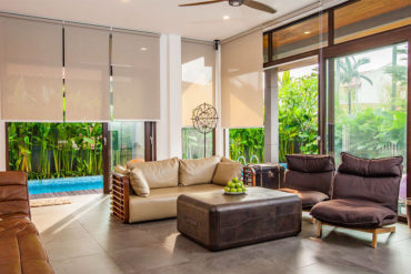 Tropical oasis within a semi-detached house