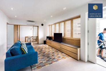A stylish flat with bespoke wooden louvred windows