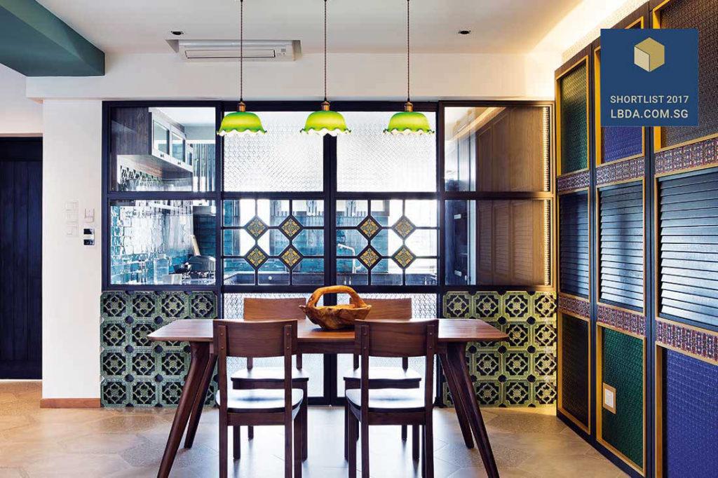 A Colourful Peranakan Style Condo Apartment