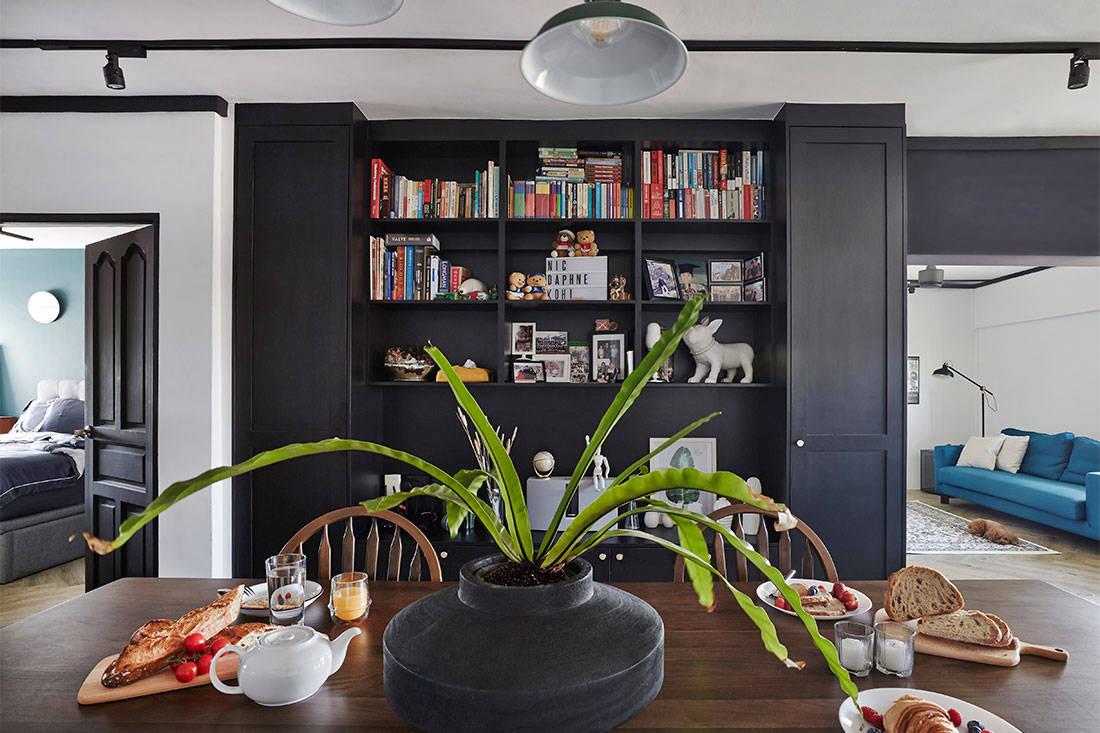 4-room monochrome HDB flat
