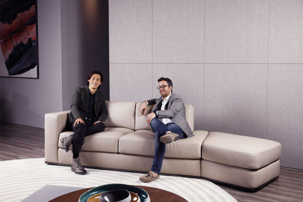 Kelvin Giormani leather sofa