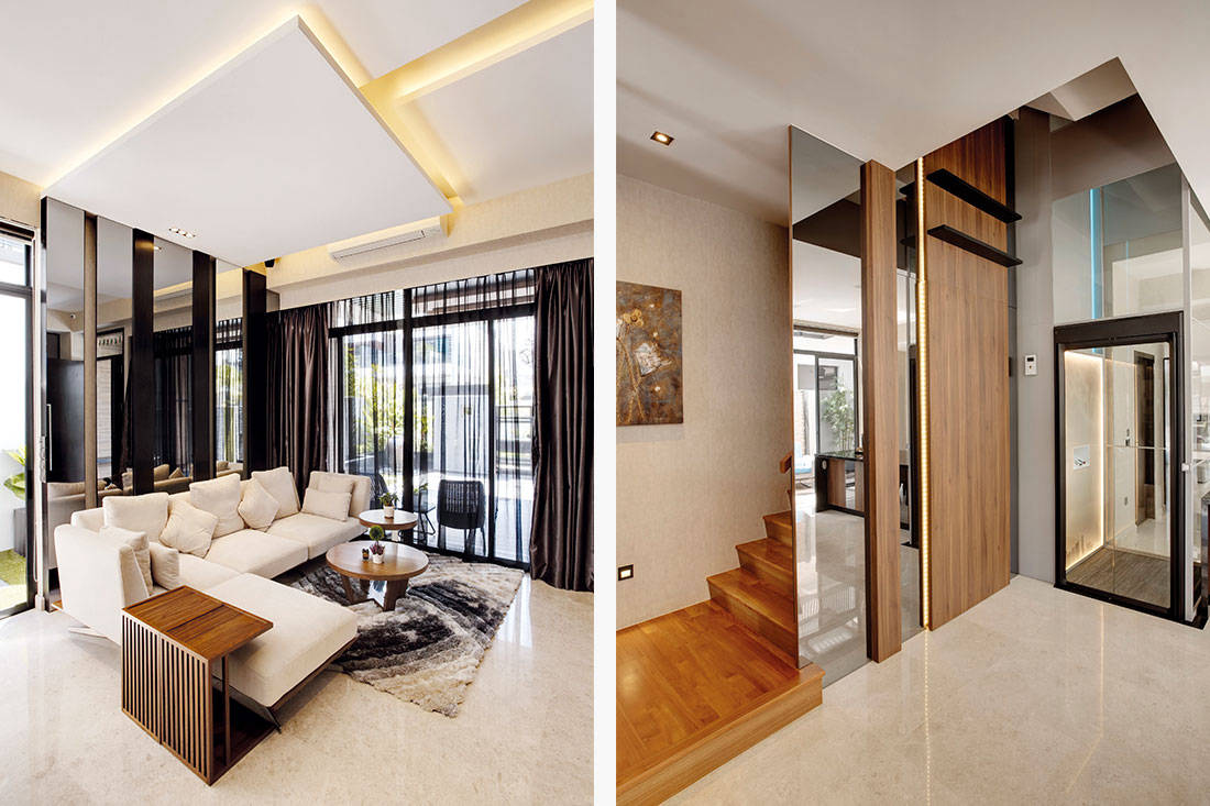 contemporary style landed home