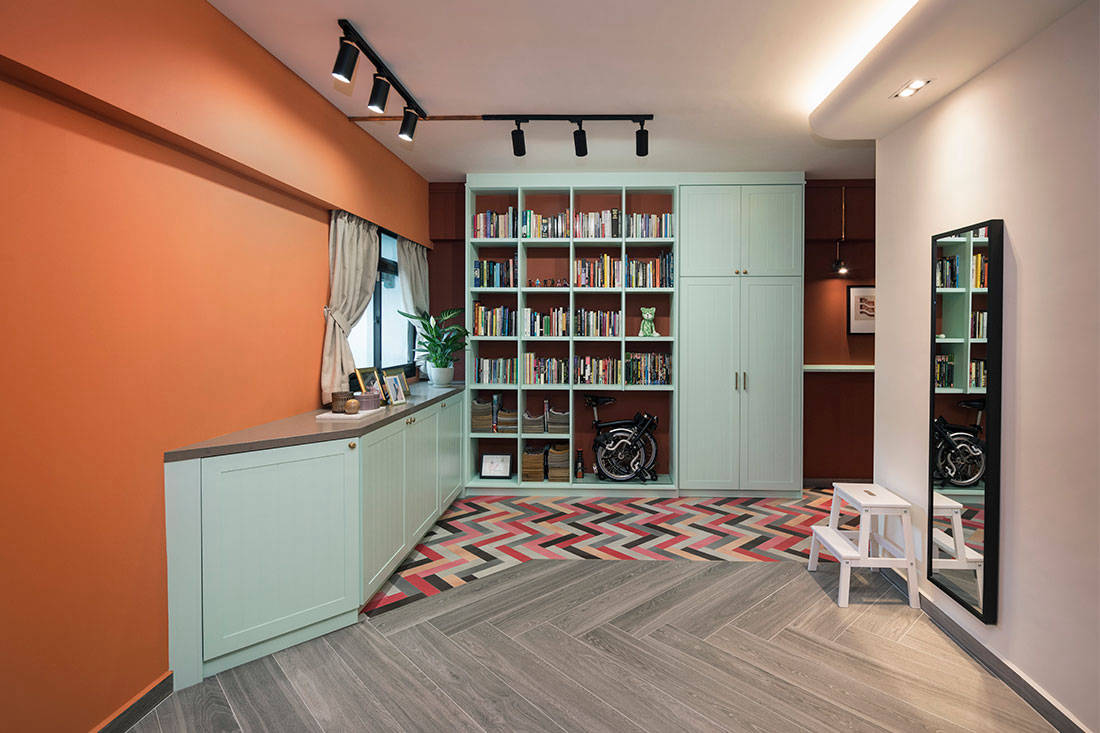 colourful HDB flat