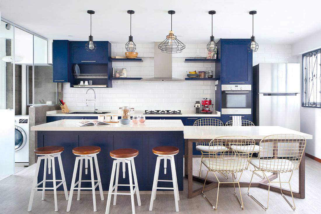 D.D.I restores HDB maisonette with classic Victorian kitchen design