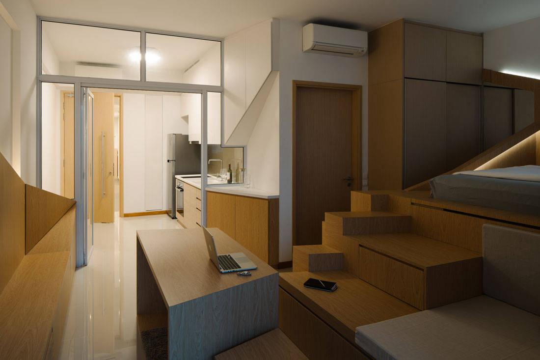 Metre Architects tiny studio apartment