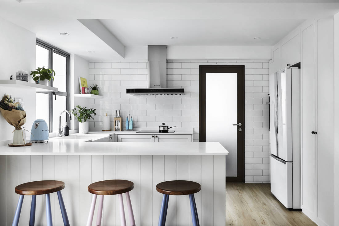 Third Avenue Studio Aquarious by the Park all-white interior kitchen design
